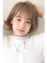【soy-kufu】イメチェンカラー ブロンドボブ