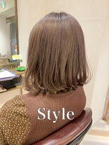【髪質改善】ブリーチオンカラーラベンダーシルバー