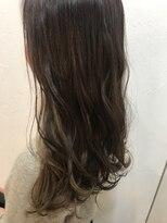 ヘアーアンドメイク ルシア 梅田茶屋町店(hair and make lucia)お洒落可愛いインナーカラー★シフォンベージュ
