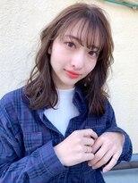 バロン 新宿店(baLon.)大人可愛い ゆるふわ やわらか ひし形 ミディアム