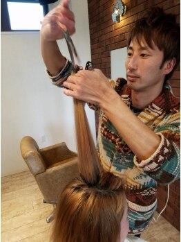 ヘアーザボンド(Hair The Bond)の写真/丁寧なカウンセリングからスタイリングポイントまで貴方に似合うスタイルの提案とアドバイスが人気♪