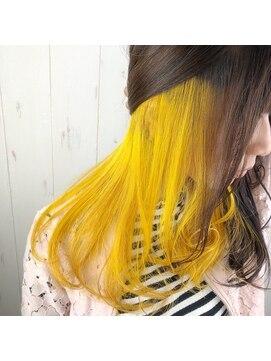 インナーカラー 黄色は思ったより可愛いの知ってる L021197948