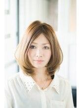 ブレス ヘアデザイン(BLESS hair design)ふんわり可愛い前上がりワンカールロブ☆