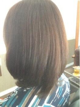 ワンズヘアー(ONE's HAIR)の写真/傷んだ髪も安心【マイナスイオンカラー】なら色モチUPで低刺激♪『誰からも褒められる上品なツヤ髪に☆』