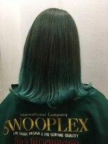 ヘアーアンドメイク ポッシュ 根岸店(HAIR&MAKE POSH)スモーキーグリーンカラー
