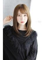 前髪イメチェンくびれイヤリングカラー美髪ラベンダーカラー/037