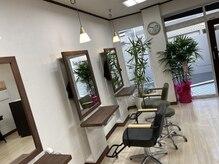 ヘアーワークス アローズ(HAIR WORKS ARROWS)の雰囲気(植物と白を基調とした明るい店内◇薬剤にもこだわっております。)