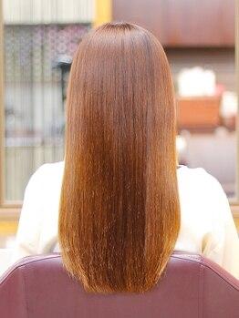 美容室 ドリームスタイルの写真/オーダーメイド縮毛★1人1人の骨格とクセにより欲しいところに欲しいぶんだけ、MENUを分けて施術する贅沢