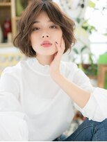 カバーヘア ブリス 北浦和西口店(COVER HAIR bliss)*bliss北浦和*センターパート…外国人風ラフエアリーボブa