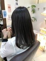 縮毛矯正 簡単スタイリング オフィスヘア 毛先ワンカール