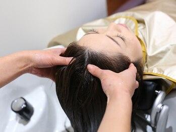 ヘア アンド スパ ミノルキ(hair and spa MInoruKI)の写真/最高級アロマオイル・ジョジアンヌの商材を使用した施術で高いヒーリング効果◎抜け毛予防にもオススメ♪