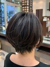 ノブヘアーデザイン 伊勢佐木町店(NOB hairdesign)〈NOB伊勢佐木町店〉ハンサムショートクールショート黒髪