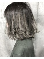 サロンドミルク 原宿(salon de MiLK)ボブディ×ハイライト×デザインカラー