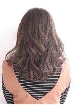 ヘアメイク オブジェ(hair make objet)3Dハイライト グレージュカラー