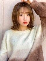 アグ ヘアー ジゼル 花巻店(Agu hair gisele)《Agu hair》シースルーバング色っぽ外ハネミディ