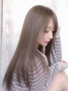 ミューズ(MUSE)の写真/「縮毛矯正は傷まない時代へ」クセをしっかり伸ばすのに艶髪はキープできる!最新縮毛矯正ピュアストレート