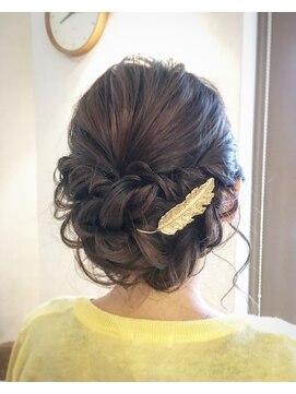 イミュウ(imiu)結婚式へアセット★ロープ編みで大人可愛い