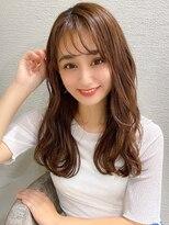 シェルハ(XELHA)アフロート斎藤 20代30代40代セミロング薄め前髪シアーベージュ