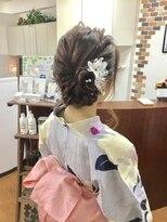 サロンド クラフト(salon de craft)【浴衣】キュートな編み込みサイドバックアップスタイル♪