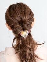 ヘアーサロン ラフリジー(Loufreasy)ローポニーテールヘアアレンジ♪結婚式や二次会のお呼ばれヘア♪
