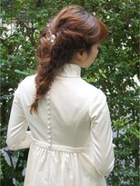 ブロック(bloc)ボヘミアンな女性らしいヘアアレンジ・ロング