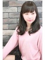 エピス 麻生1号店(epice)【黒髪】プラチナグレージュ×フリンジバング