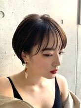 マルツ 銀座(maltu)マッシュショート丸みショート黒髪エッジショート3Dカラー