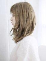 透明感 ふわミディ/デジタルパーマ/ヘルシーレイヤー