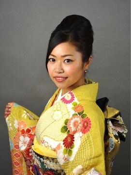 振袖髪型(成人式&結婚式) 美容室 Bi【卒業式】振袖夜会巻きセット