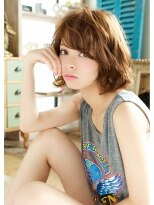 オーガスト ヘア ネイル(AUGUST hair nail)今年一番人気 カールボブ 担当 森 【横浜】/ミニマムボブ