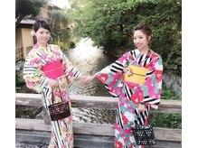京都着物レンタル はちみつの雰囲気(京都女子会は着物で♪幅広いバリエーションを揃えています☆)
