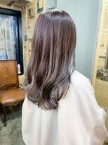 アッシュベージュミルキーベージュ艶カラー透け感ツヤ髪春カラー