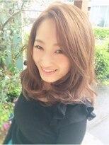 ヘアーデザイン スロープ 稲毛海岸店(Hair Design Slope)ミディアムフェミニン♪