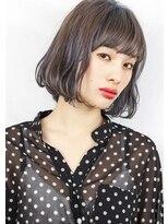 ヘアサロンガリカアオヤマ(hair salon Gallica aoyama)☆3Dカラー × グレージュ ☆ 外国人風切りっぱなしボブ☆
