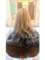 インナーカラー青☆紫