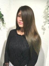 ボヌールヘア(BONHEUR HAIR)ボヌールヘアー 綾瀬【岡部 賢悟】オリーブグラデーション