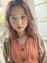 コクリ(kokuri) 【梶谷担当】ローズカラー 色っぽ ふんわりミディ♪