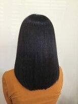 『tie hair』 美髪ツヤサラストレートヘア 大人かわいい 黒髪