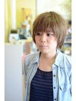 ファシオ ヘア デザイン(faccio hair design)ショートスタイル スモーキーアッシュ