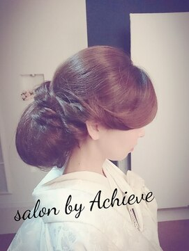 アチーブ 姫路店(Achieve)【achieve】洋髪和装アップスタイル/有村