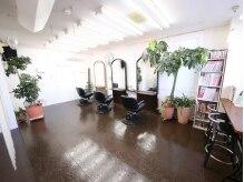 ブラウン ブラウンの雰囲気(店内は真っ白な壁と観葉植物に囲まれた、落ち着きのある空間。)