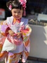 ハナココ 水戸店(hana Coco)七五三 崩れないキッズヘア ツインお団子 3歳
