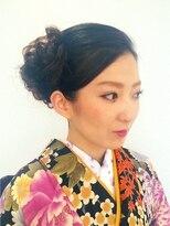 アズーラ豊田(AZURA)結婚式およばれ和装アップ