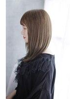 前髪イメチェンくびれイヤリングカラー美髪ラベンダーカラー/038