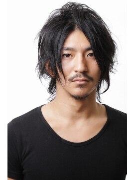 髪型メンズロングツヤ黒
