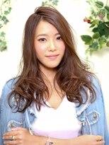 オーガニックサロン フェイス 梅田店(organic salon face)ふんわりパーマとかき揚あげングで女らしいロングヘア