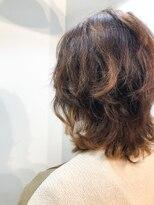 エイチスタンド 渋谷(H.STAND)イヤリングカラー/ラベンダーカラー/くびれミディ/オフィスヘア