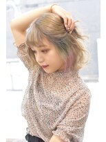 ヘアーサロン エール 原宿(hair salon ailes)(ailes原宿)style422 ミルクティー×パステルインナー