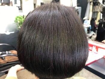 ハッピーハウス(HAPPY HOUSE)の写真/髪にも頭皮にも負担の少ない酵素カラーが得意◎白髪をカバーしながら明るく染められるのが嬉しい♪