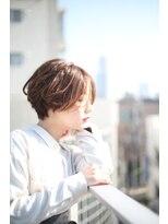 レンジシアオヤマ(RENJISHI AOYAMA)大人可愛いセンター分けショートボブ【池田 涼平】